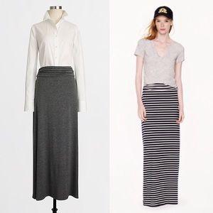 J. Crew Grey Jersey Maxi Skirt